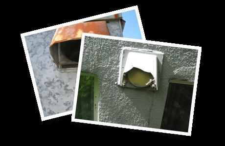 Trappe extérieure rouillée / Clapet extérieur brisé