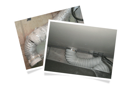 Perforated transition duct / Connecting hose made of white plastic (vinyl)