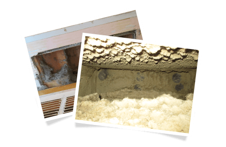 Contaminants accumulated in duct