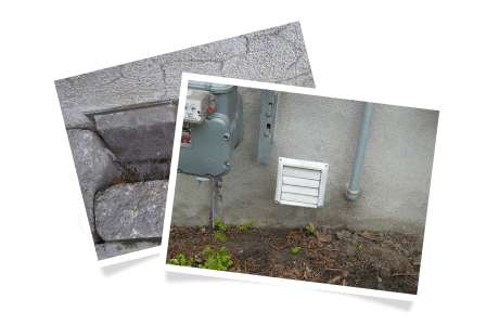 Outdoor exhaust termination too close to the ground / Outdoor damper too close to the ground